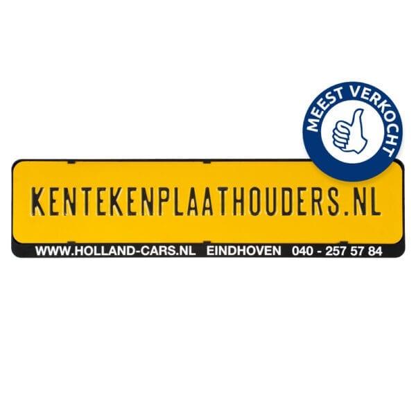 Kentekenplaathouder met Tekstrand Serie 1 - Kentekenplaathouders.nl