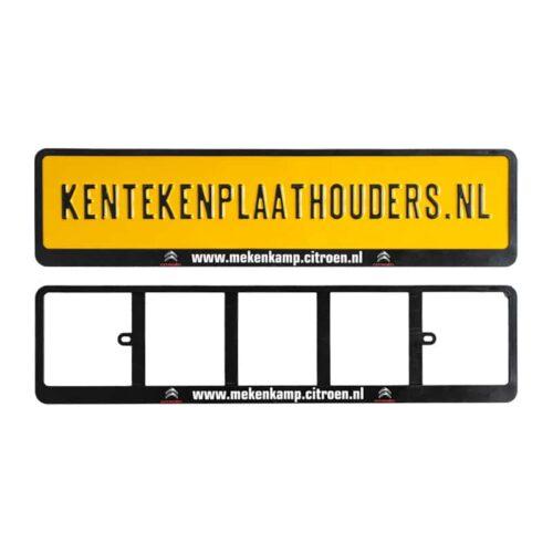Inschuif Kentekenplaathouder Bedrukken - Kentekenplaathouders.nl