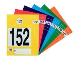 Label pakket Werkplaats met drie verschillende soorten labels voor aan de sleutel, binnenspiegel en werkorder map