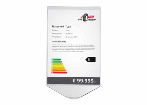 prijskaarthouder voor het dashboard - Kentekenplaathouders.nl