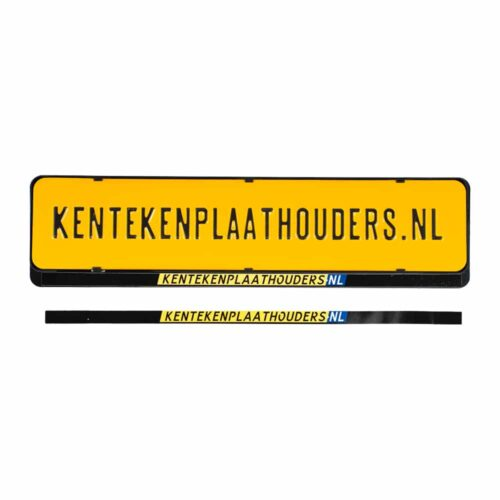 Kentekenplaathouder Sticker Bedrukken - Kentekenplaathouders.nl