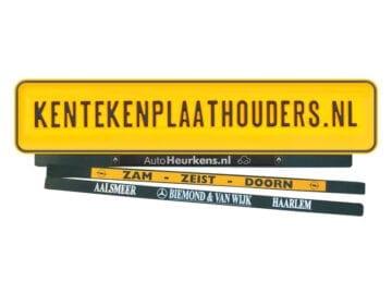 Kentekenplaathouder Plakstrip Bedrukken - Kentekenplaathouders.nl