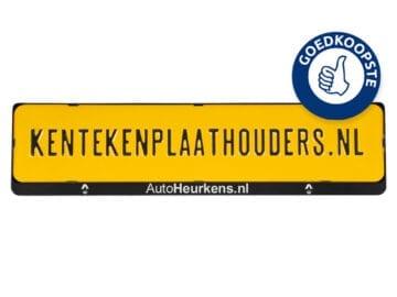 Kentekenplaathouder | met tekstrand | serie 2 - kentekenplaathouders.nl
