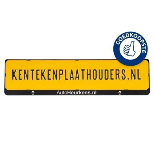 Kentekenplaathouder   met tekstrand   serie 2 - kentekenplaathouders.nl
