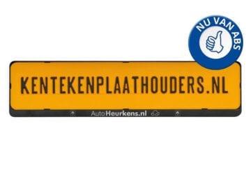 Kentekenplaathouder met tekstrand serie 2 bedrukken - kentekenplaathouders.nl