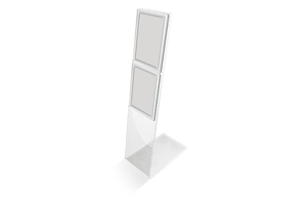 Showroom display standaard 110 cm met 2 kliklijsten