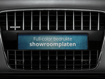 Showroom platen (inlegborden)