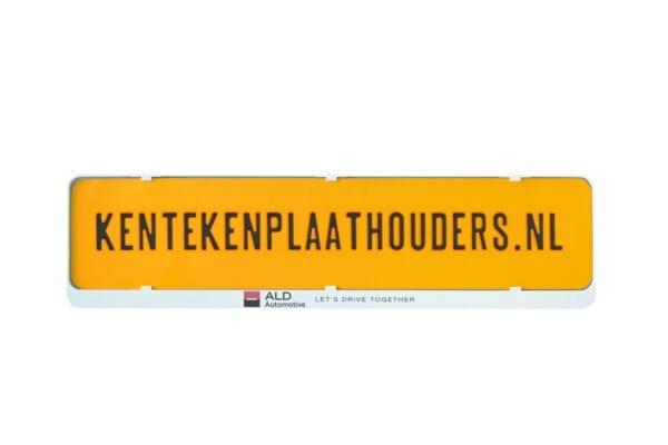 kentekenplaathouder wit met tekstrand serie 1 - Kentekenplaathouders.nl
