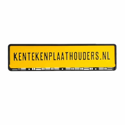 Flexibele polyprop kentekenplaathouder zonder strip - Kentekenplaathouders.nl