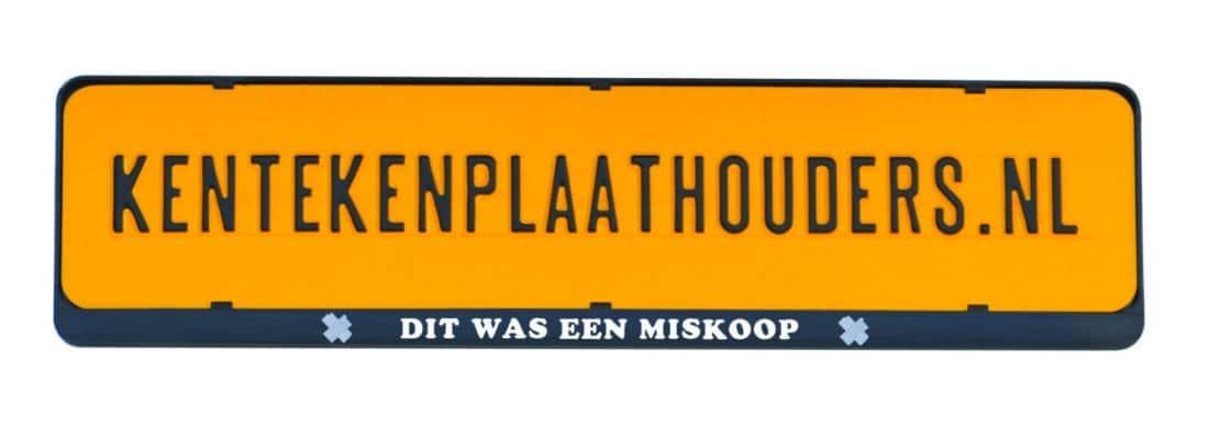 Dit was een miskoop grappige kentekenplaathouder - Kentekenplaathouders.nl