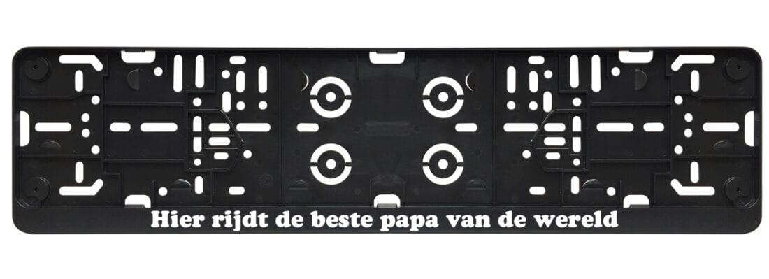 Hier rijdt de beste papa van de wereld - vaderdag kentekenplaathouder