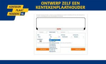 Ontwerp zelf een kentekenplaathouder - Kentekenplaathouders.nl